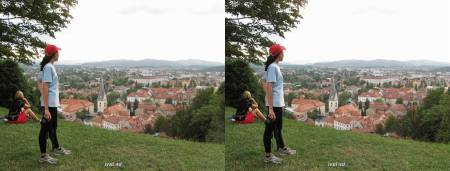 kota Ljubljana dari bukit kastil