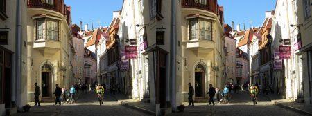 Street at Tallinn Old Town, Estonia