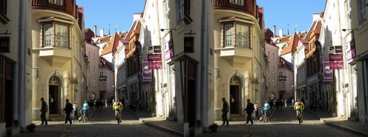 Street at Tallinn Old Town, Estonia
